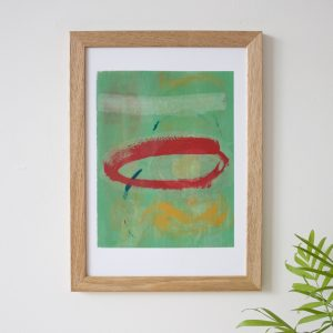 painterly screen print