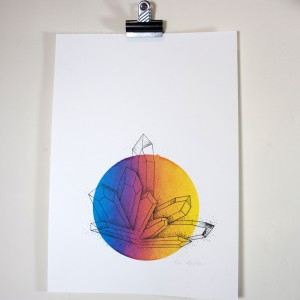 crystal screenprint