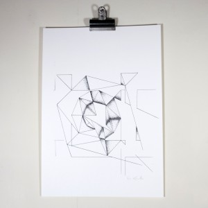 abstract geometric screenprint