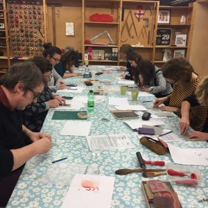lino print workshop