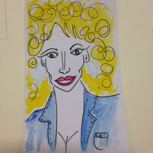 dolly parton drawing