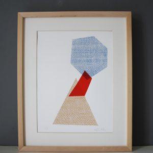 geometric shapes screen print