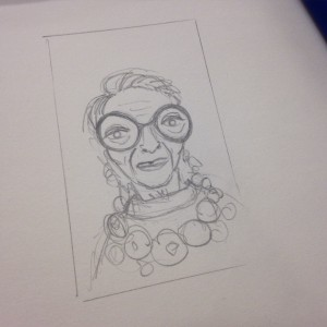 iris apfel drawing
