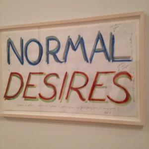 bruce nauman normal desires