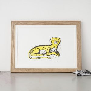 leopard lino print
