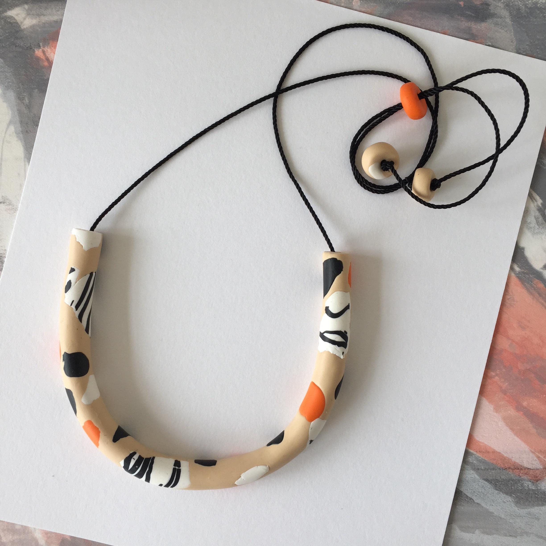 Zebra Finch necklace