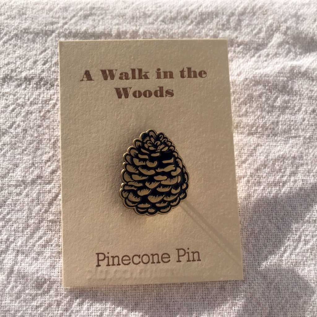 pinecone enamel pin