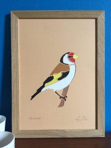 goldfinch papercut