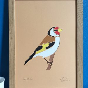 goldfinch papercut