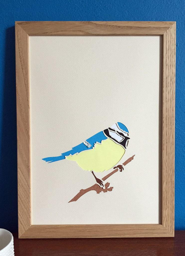 bluetit papercut