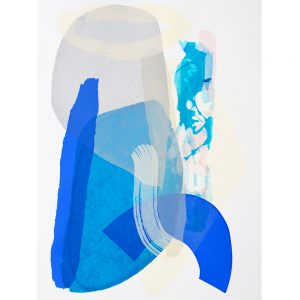 blue abstract screen print