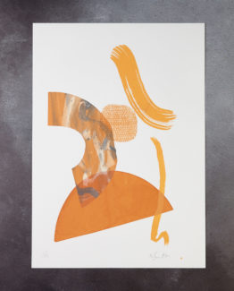 orange abstract print