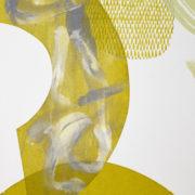 Green abstract print close up