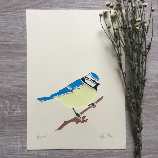 bluetit papercut