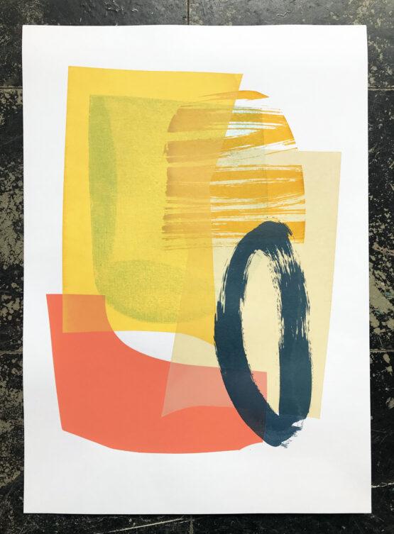 abstract screen print