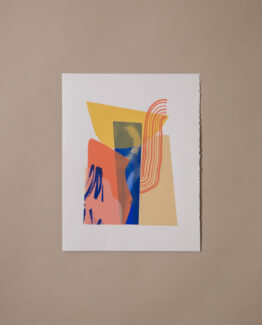 Yellow and blue wall art