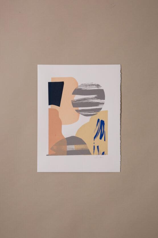 abstract screenprint