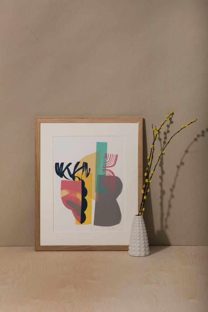 Midsummer abstract wall art