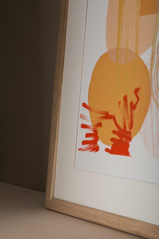 lammas abstract screenprint