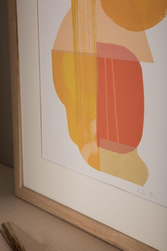 Yellow and orange contemporary screenprint