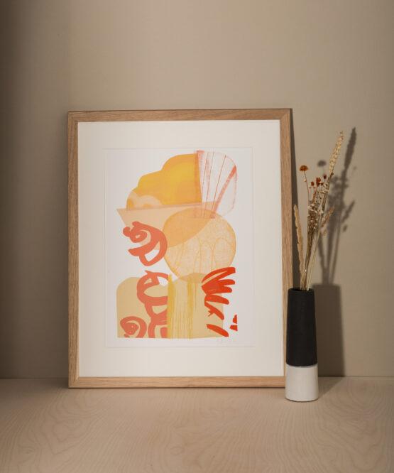 contemporary abstract screenprint