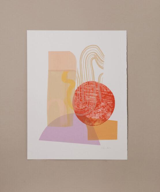 contemporary monoprint