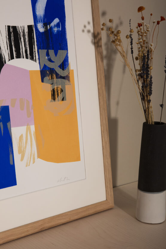 Samhain contemporary abstract screenprint